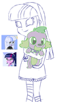 Silvi and Spike by foxxy00candy