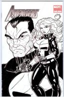 Avengers No 1 Punisher n Lady by ferah11