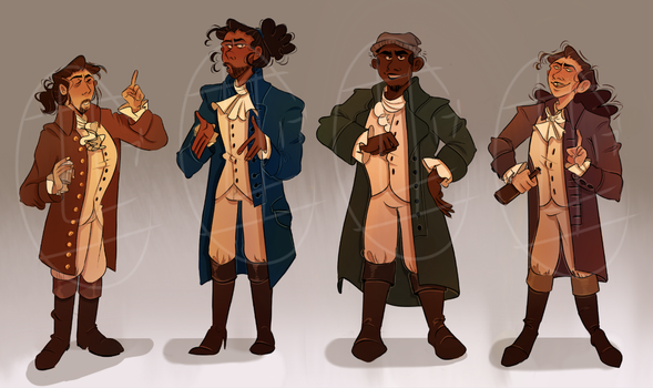 Hamilsquad Lineup by axolotlsketches