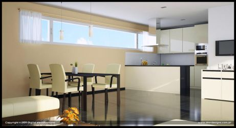 UV Building Kitchen Option 2 by diegoreales