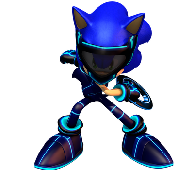 Sonic Tron render. by FlsdhTH003