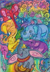 Parade of Elephants by CheshireDivine