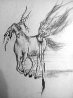 Horse Monster by 666mephistopheles