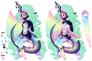 Mermay: Xynthii Adopt: Day 10: Dreaming: CLOSED by ObsceneBarbie