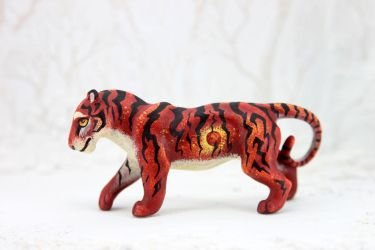 Red tiger by hontor