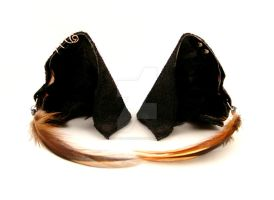 Black and Buff Wolf Ears by StorytellerZero