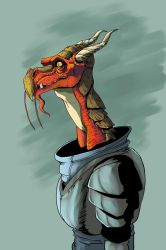 Dragon Knight- Color by KidGalactus
