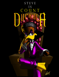 Steve is Count Duckula by Digi-Ink-by-Marquis