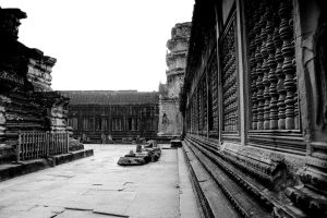 Angkor Wat Courtyard by Niv24