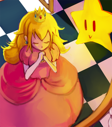 Day Pink : Princess Peach + Twink by gniao