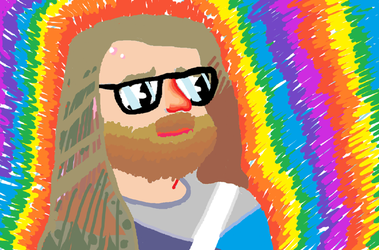 Colorful bearded dude - MS PAINT by BrandonPewPew