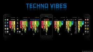 Techno Vibes (Android Homescreen) by goldenacorn93