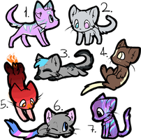 2 Point Cat Adopts / OPEN by PASTEL--ADOPTABLES