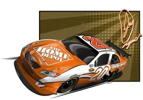 2009 Joey Logano Home Depot by graphicwolf
