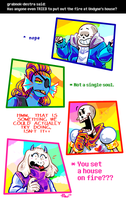 Undertale ask blog: how about that fire by neonUFO