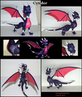 Cynder the dragoness figurine by Laservega