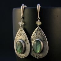 labradorite earrings II by skladsznurowadel