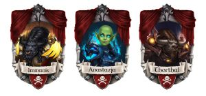 Reciprocity Blizzcon Badges - Tauren and Orc by JuneJenssen