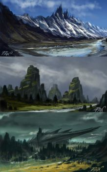 Landscapes Fantasy by Panaiotis