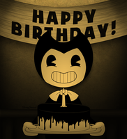 Bendy the Birthday Demon! by EbonyShroud