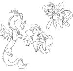 Crystalverse: Sketch: Magic Lessons by ThePegasisterPony