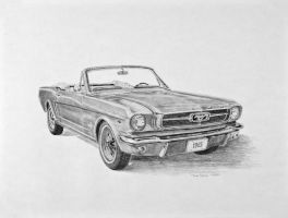 1965 Ford Mustang Sketch by Daniel-Storm