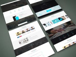 Freebie - Perspective Website PSD Mock-Up by GraphBerry