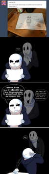 Undertale::ParaverseTale:: Asterisk Loves Art Ask by SpaceJacket