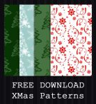 FREE DOWNLOAD - Christmas Patterns by PointyHat