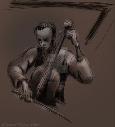Cello in the light by HumeurNoire