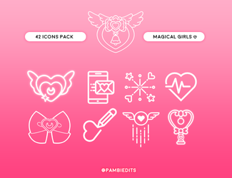 Magical Girls Icons by ShoshiiAlex