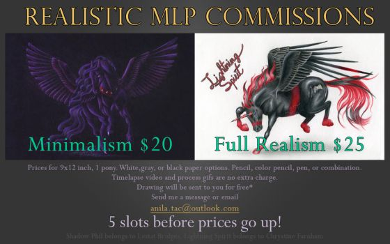 Open!~Realistic MLP Commission Info by MoonwalkingHorse