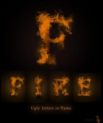 Ugly letters in flame by iuneWind