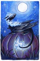 30 Days of Dragons - Day 29 - Moonlight Dragon by SpaceTurtleStudios