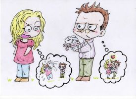 LOST Ben Linus and Juliet by Silwy-whisky