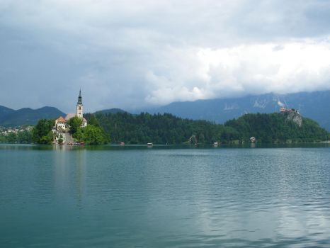 Bled's lake landscape by Moriquesse