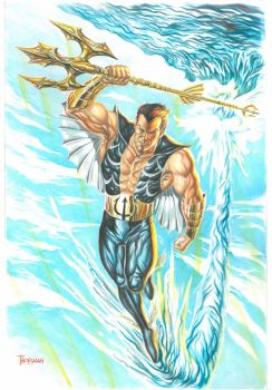 Namor Gouache Art by 777thorman