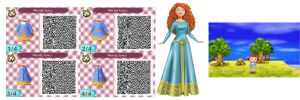 Merida Qr Code blue dress by ruby290930