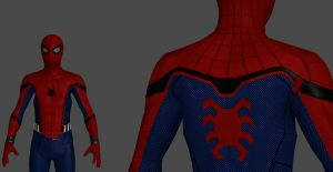 Spider-Man model ask for help by silkroad820420