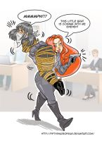 commission OTN gag-The Fox's office robbery by fiftyshadeofgag
