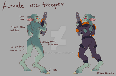 concept orc-trooper by Trabbii