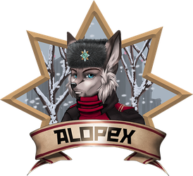 Alopexbadge small by Foxxie-Angel