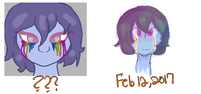 Pansexual tears redraw by SoulLovesArt
