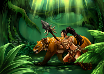 Nidalee - League of Legends by CIELO-PLUS