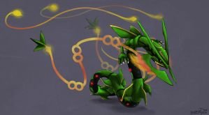 Mega Rayquaza aka Don't Mess With The Boss Dragon by badass-doctor