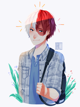 |FA| shouto by cherriielle