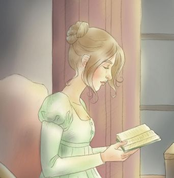 Pride and Prejudice: Lizzy reading by mseregon