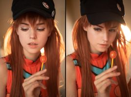 Asuka Langley in swimsuit by pollypwnz
