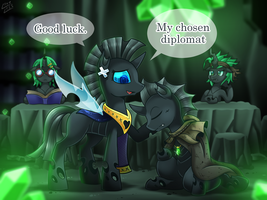 [Reward] Changeling's Diplomat Journey 01 by vavacung
