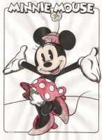 Minnie Mouse Watercolor by DarakuMegami